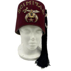 Vintage Free Mason Masonic Scimitar Shriner's Hat